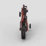 Compact Folding Bikecherry red 04