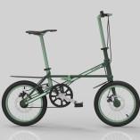Small Folding Bike dark green 01l