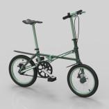 Small Folding Bike dark green 02l