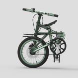 Small Folding Bike dark green 03l