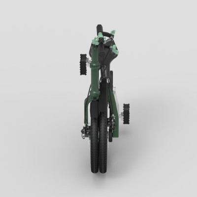 Small Folding Bike dark green 04