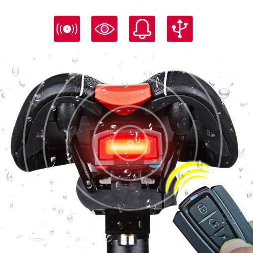 Wireless Bike Alarm Rear Light 1